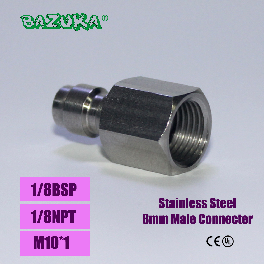 Paintball Airsoft PCP Air Gun Quick Disconnect Charging Hose Adaptor Thread 1/8NPT 1/8BSP M10*1 Stainless Steel Fill Nipple
