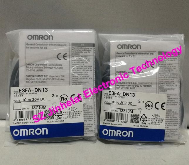 New and original  E3FA-DN14, E3FA-DN13  OMRON Photoelectric sensor  Photoelectric switch   10-30VDC    2M omron photoelectric switch sensor built in micro diffuse 2m e3t sl11
