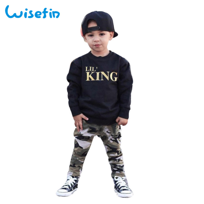 Top selling product in 2019 Casual Toddler Kids Infant Baby Boy Clothes long Sleeve Tops T-shirt Camo Pants 2PCS Outfits Set D20