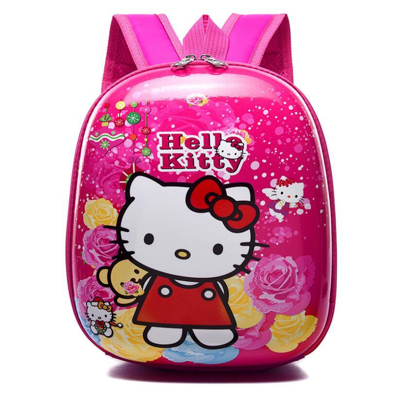 Kids Bag For Girls Cute Cartoon Hello Kitty School Bags Waterproof Orthopedic Backpack Children Kindergarten Preschool Backpacks