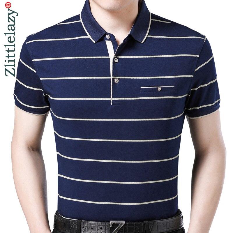 2019 Herren Kleidung Kurzarm Polo Shirt Sommer Pol Männer Gestreiften Marken Polos T-shirts Kleid Streetwear Männlichen Polo 6101 Novel (In) Design;