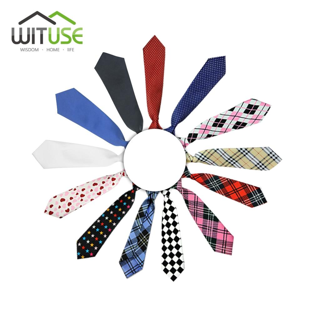 10 Styles School Boys Girls Kids Elastic Necktie Wedding Tie Lictar Stripe Plaid Print Neck Tie For School Boys Children