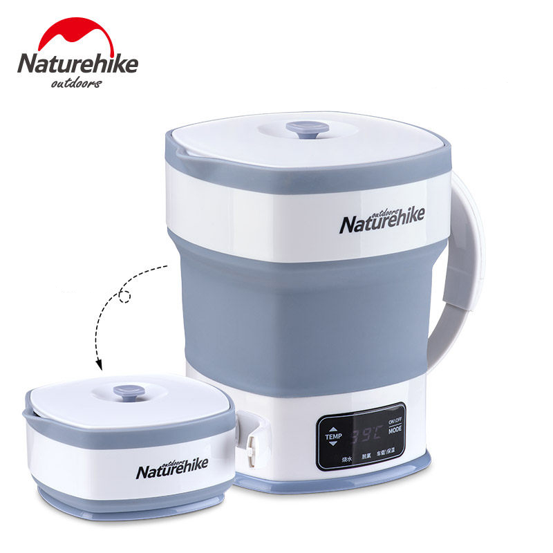 Naturehike Mini Water Kettle Thermal Insulation Foldable Portable Electric Kettle Travel Camping Food Grade Silicone image