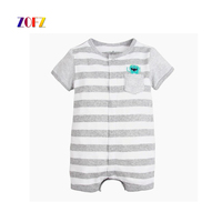 ZOFZ New Baby Boy Clothes Casual Clothes For Newborns Striped Jumpsuit Short Sleeve Overalls Soft Baby
