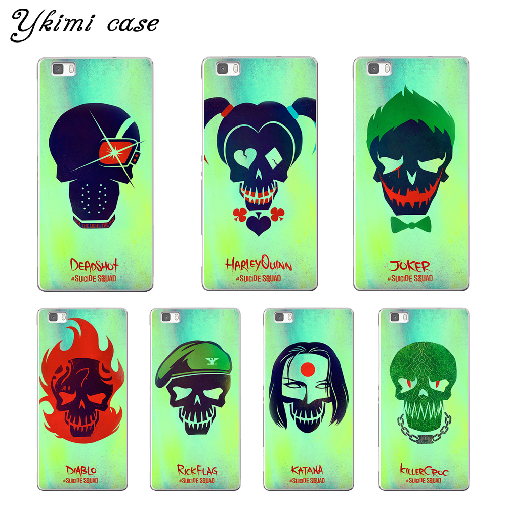 Abstract SUICIDE SQUAD design phone cases For huawei P8 P9 P10 Lite 2017 P10 Plus NOVA cover