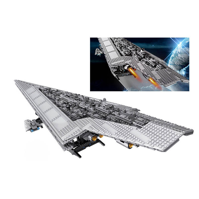 In Stock Lepin 05028 New 3208Pcs Star Plan Series The Super Star Destroyer Model Blocks Bricks Educational Toys For Kids конструктор lepin star plan истребитель набу 187 дет 05060