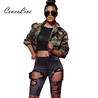 Camo Crop Top Women Jacket Army Green Autumn Camouflage Cropped Jacket Sexy Casual Plus Size Coats And Jackets Womens Outerwear