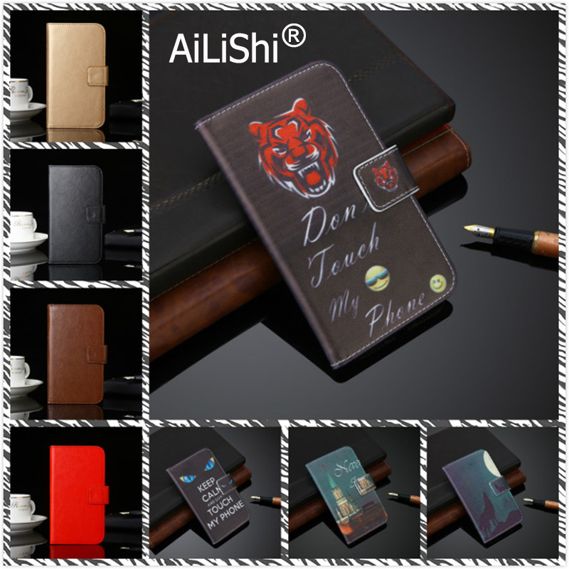 AiLiShi Leather Case For Just5 M503 Freedom C100 M303 C105 X1 COSMO L707 L808 Flip Cover Skin Wallet With Card Slots Just5 Case image