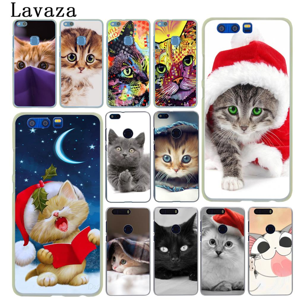Lavaza Merry Christmas <font><b>cats</b></font> Grey lovely <font><b>cat</b></font> <font><b>Case</b></font> for <font><b>Huawei</b></font> Y9 Y6 <font><b>Y7</b></font> Prime 2018 <font><b>2019</b></font> Honor 20 8C 8X 8 9 9X 10 Lite 7X 7A Pro image