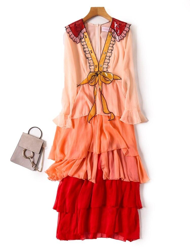 Nouvelle robe vente à manches longues gâteau T170838