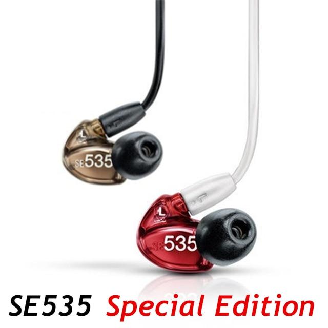 Se535 fone de ouvido hi fi estéreo destacável, boa qualidade, som se 535 edição especial, vermelho bronze com caixa vs se215