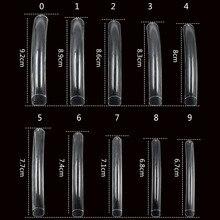 Натуральные/прозрачные удлиненные французские акриловые поддельные ложные украшение для ногтей