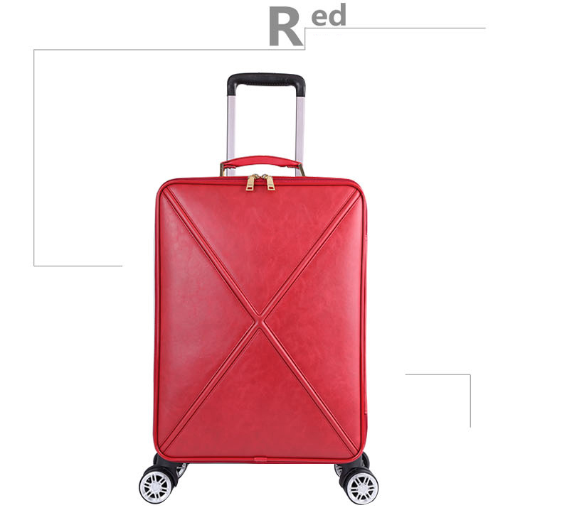 Модный чемодан на колесах с сумочкой в комплекте для женщин; классические деловые Дамский чемодан Спиннер посадки 16/18/20/24 дюйма, сумка для путешествий - Цвет: Red(single)