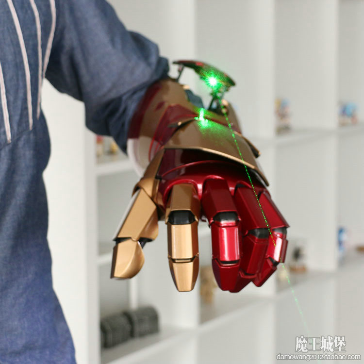 1:1 can be worn in the hands of electric iron man MK7 MK42 hand arm helmet helmet кастрюли rondell кастрюля rondell rds 743