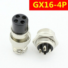 Aviation plug GX16-4 p quad 4 core aviation aviation connector socket connection device стоимость