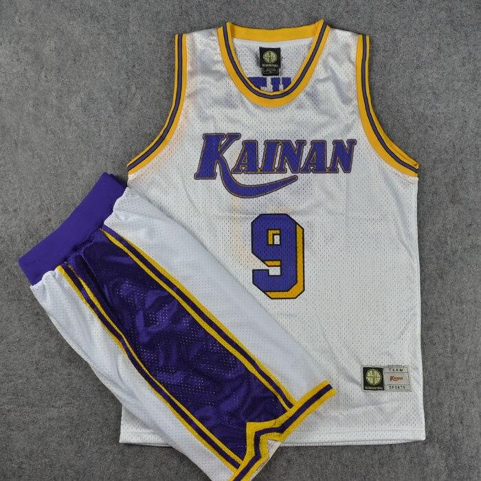 Men Cosplay Costumes Basketball Jersey NO.9 MUTO Slam Dunk