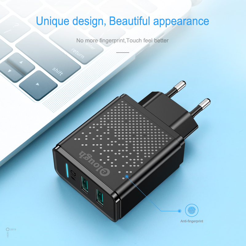 Elough Dual USB Charger for iPhone charger EU Plug 2 4AFast charge Adapter for cargador iphoneTablet micro usb charger chargeur in Mobile Phone Chargers from Cellphones Telecommunications
