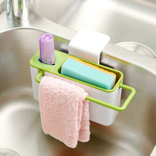 Hot Useful Practical Kitchen Sink Brush Tools Suction Cup Storage Box Holder Container Free Shipping In Holders Racks From Home Garden On