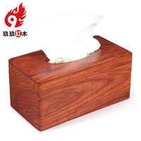 Vietnamese rosewood mahogany Tissue Box Creative napkin wooden tray pumping large storage box plain living room