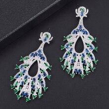 SISCATHY Luxury Big Water Drop Earrings For Women Full Micro Cubic Zircon Crystal Wedding Bridal Party Ear Jewelry