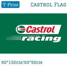 90*150 см 60*90 см Castrol, Гоночный флаг страны селектор, Castrol глобальная на домашней странице баннер из полиэстера