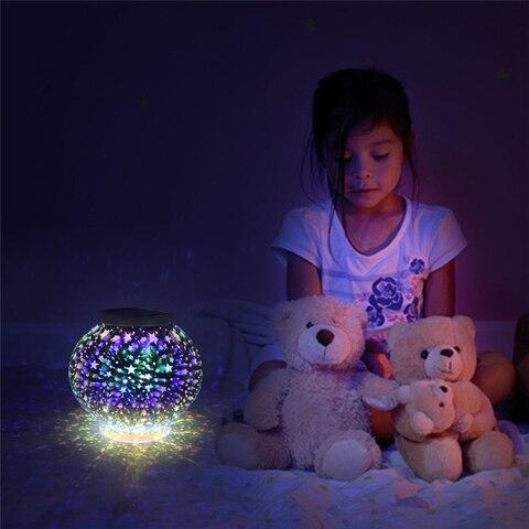 cristal mosaico lampada estrelas luz solar a