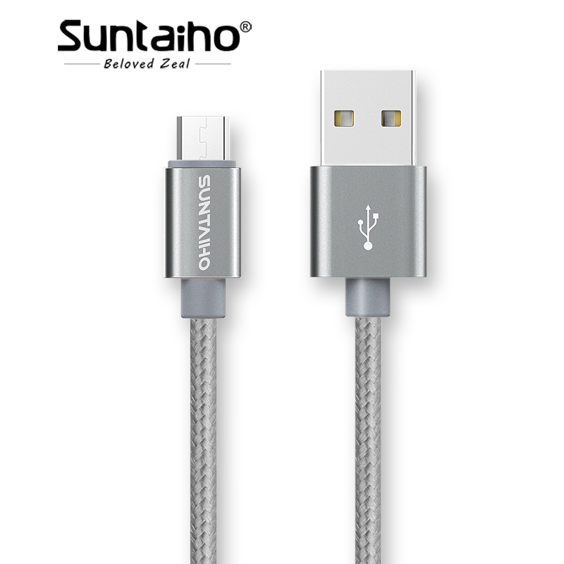 5V 2.1A Micro USB Cable Charging Cable,Suntaiho Nylon Braid USB Charger Sync Data Cable for Samsung Galaxy Xiaomi HTC Sony Phone
