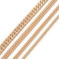 4.8/6.6/8.5/11.5 MM Ancho Chapado En Oro Enlace Joyería Collar de Cadena de Acero Inoxidable para Hombres Mujeres Accesorios de moda Punk