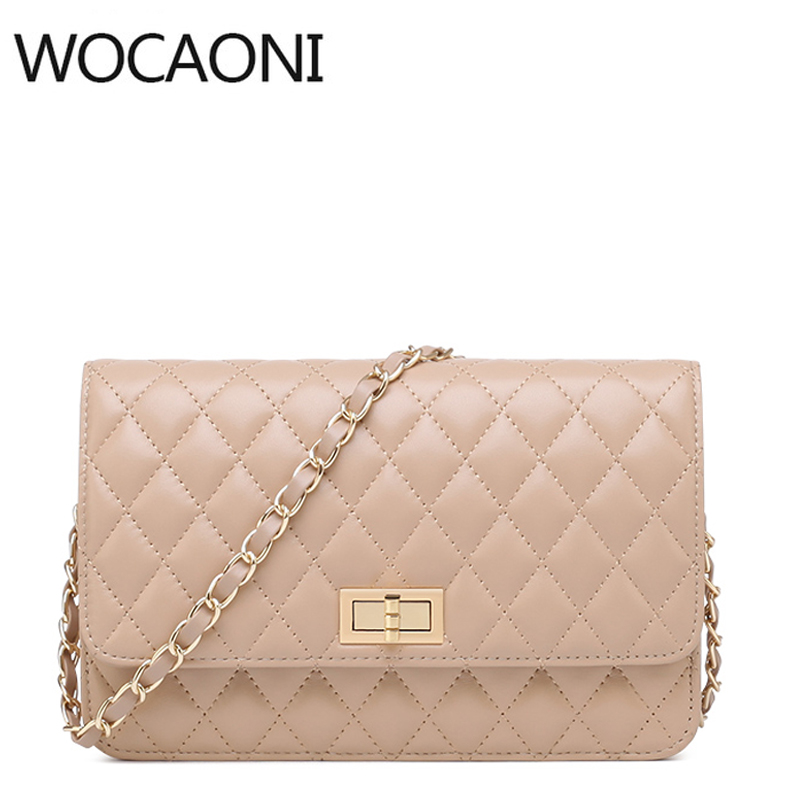 WOCAONI women messenger bags genuine leather famous brands shoulder bag luxury handbag women crossbody bags designer handbags цена
