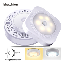 Elecshion LED PIR Sensor Night Wall Light Motion Activated lamp Wireless Infrared Panel Emergency Human Body Sensing 6 LED Bulb