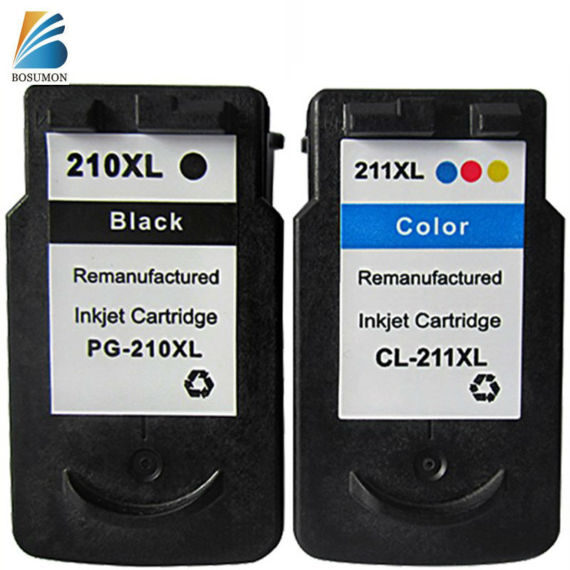 все цены на  For Canon PG-210 CL-211 PG210 CL211 Ink Cartridge  PG 210 CL211 Pixma IP2700  iP2702 MP230  MP235 MP240  MP250  MP 252 MP 260  онлайн