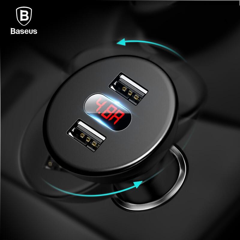 Baseus Car Charger Digital LED Display Mobiles
