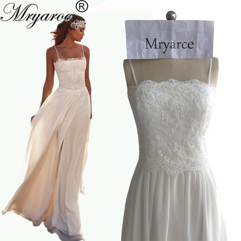 Mryarce 2017 Simple Flowy Summer Beach Wedding Dresses