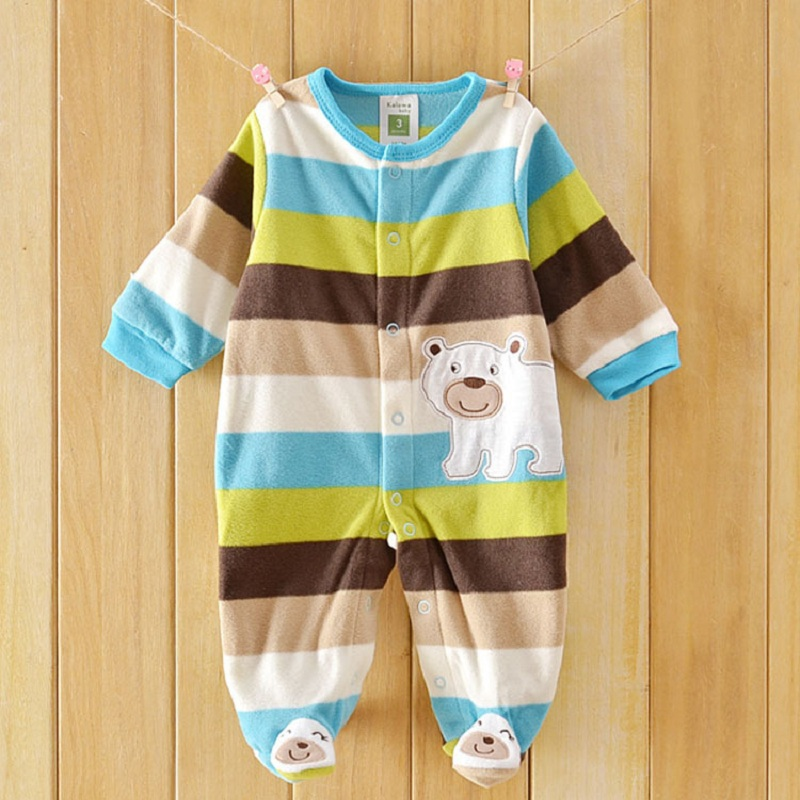 Baby Rompers Fleece Clothing Newborn Baby Boys Girl Winter Clothes Costume Overalls Bebes Menino Long Sleeve Baby owl patterm 2017 new fashion cute rompers toddlers unisex baby clothes newborn baby overalls ropa bebes pajamas kids toddler clothes sr133