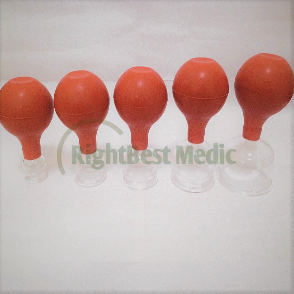 Livraison gratuite 15 tasses (3 ensembles) verre médical et caoutchouc ventouses ventouses ventouses corps Massage ventouses thérapie verre tasse
