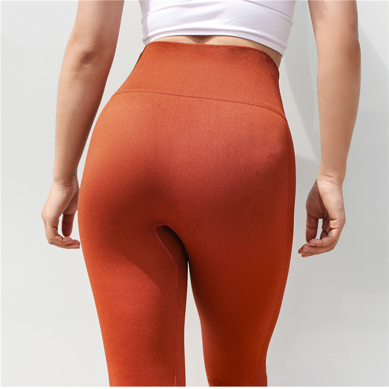Stretch Leggins Sport Women Fitness Flex Cropped Gym Leggings High Waist Seamless Yoga Pants Calf-Length Pants Workout Tights 1
