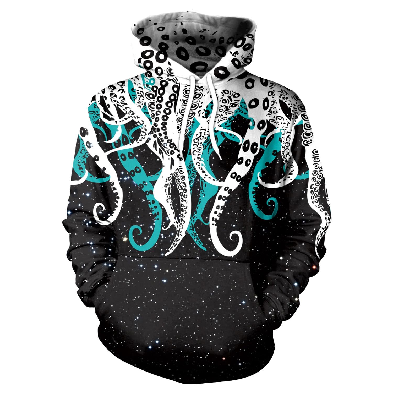 Men Hoodies Octopus Tentacle 3D Print Hoodies Men Hoodie Loose Long Sleeve Hooded Sweatshirt Streetwear Sudaderas Para Hombre