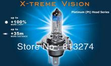 X-treme Vision 100% Ярче H1/H3/H4/H7/H11/HB3 (9005)/HB4 (9006) Галогенные Ксеноновая Лампа Лампа Фары 12 В Бесплатная доставка AAA