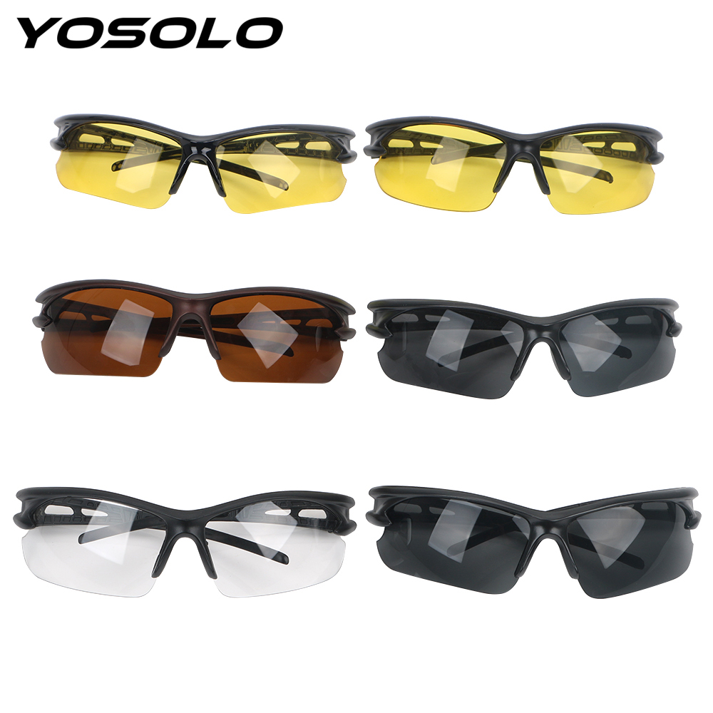 YOSOLO Car Night Vision Glasses Plain Glass Spectacles For Outdoor Riding Insect Proof Explosion-proof Sunglasses Windproof