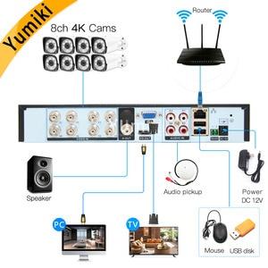 Image 2 - H.265 +/H.264 8ch AHD กล้องวงจรปิด DVR 4K 8Ch 4 K/5MP Hybrid Security DVR Recorder กล้อง onvif Coxial ควบคุม P2P XVI/AHD/TVI/CVI/CVBS/IP