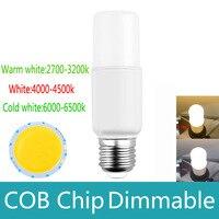 Без мерцания долго жизни, здоровья Светодиодная лампа E27 10 Вт COB затемнения 220 В 110 В светодиодный прожектор лампы с Smart IC драйвер лампада LED