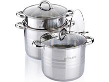 Набор посуды MAYER & BOCH, 6,8 л, 8,6 л, 10,6 л, 6 предметов, стальные ручки
