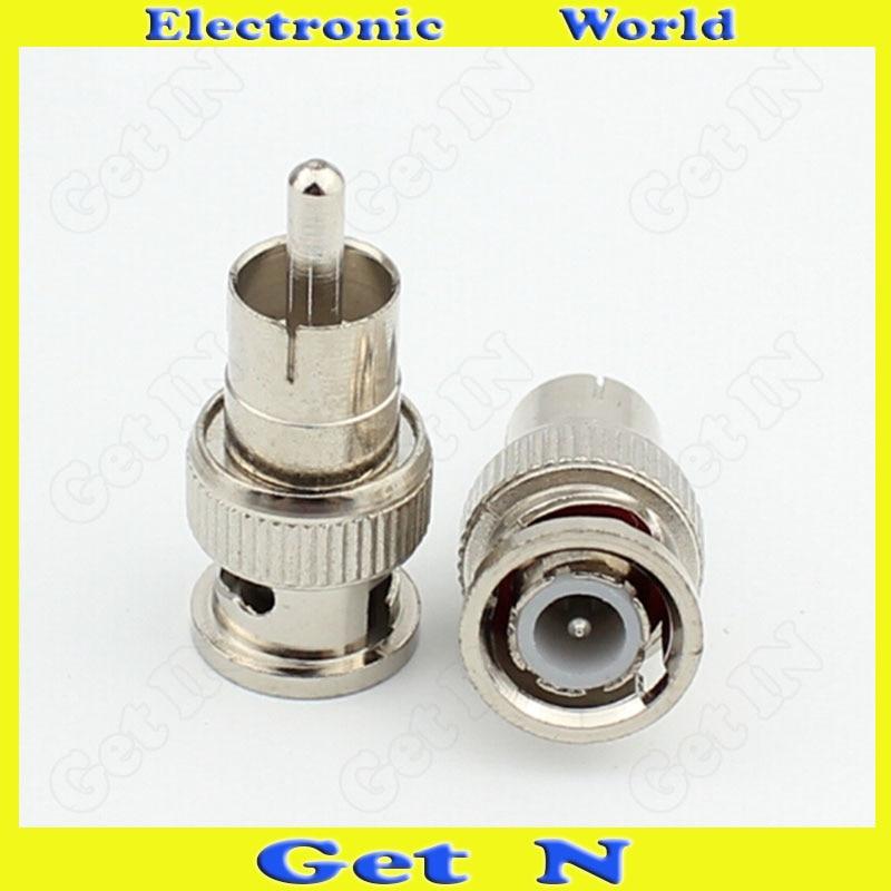 20pcs-200pcs Q9/BNC Video Adapter Connector Converting BNC Male to AV Male/ BNC to RCA Male