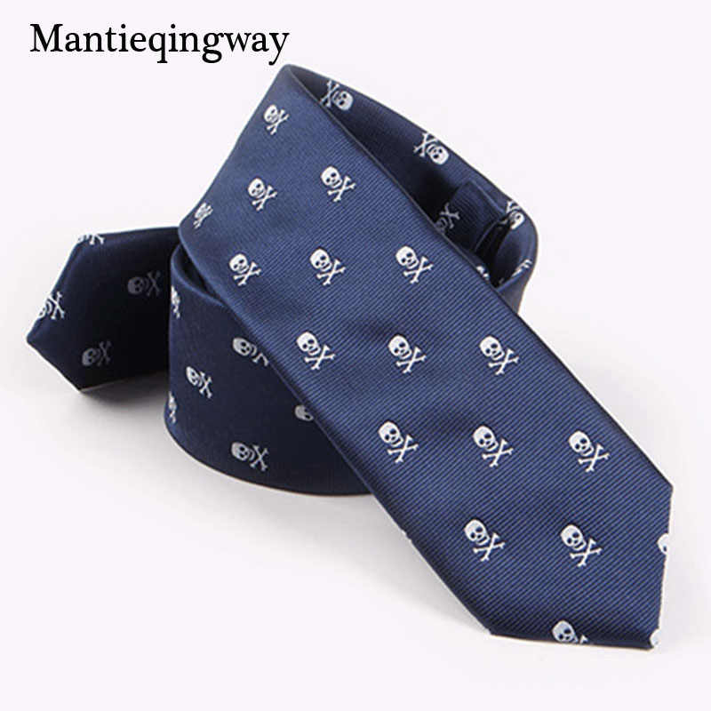 e69155d0ecf3 ... Mantieqingway Fashion Wedding Ties for Men Slim 5cm Polyester Bow Tie  Cravat Brand Casual Skull Bike ...