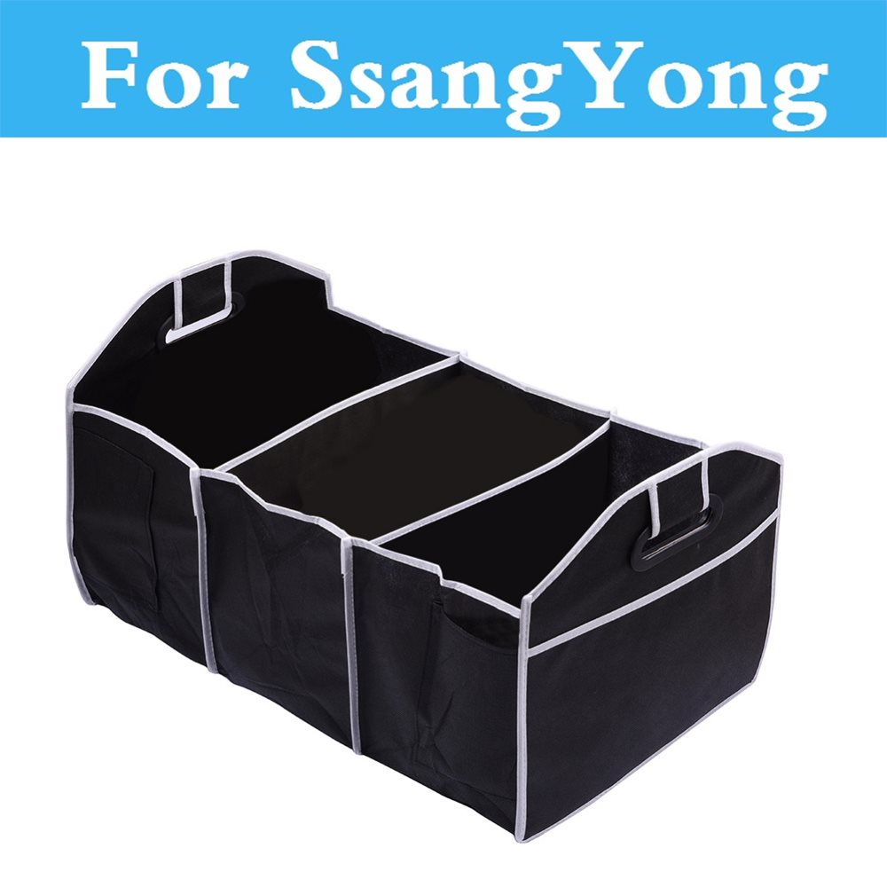 Car Stowing Tidying Bag Storage Box Multi-Space Auto Trunk For SsangYong Kyron Actyon Chairman Korando Musso Nomad Rexton Tivoli image