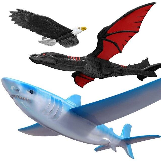 4d8187c0b729ac € 8.38 63% de réduction|Lancement à la main lancer planeur avion en mousse  inertielle planeur requin aigle mouche Dragon modèle Sports de plein ...
