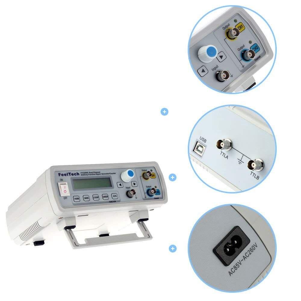 DDS fonction générateur de Signal fonction générateur de Signal double canal formes d'onde arbitraires compteur de fréquence d'impulsion LCD 12Bits 250M