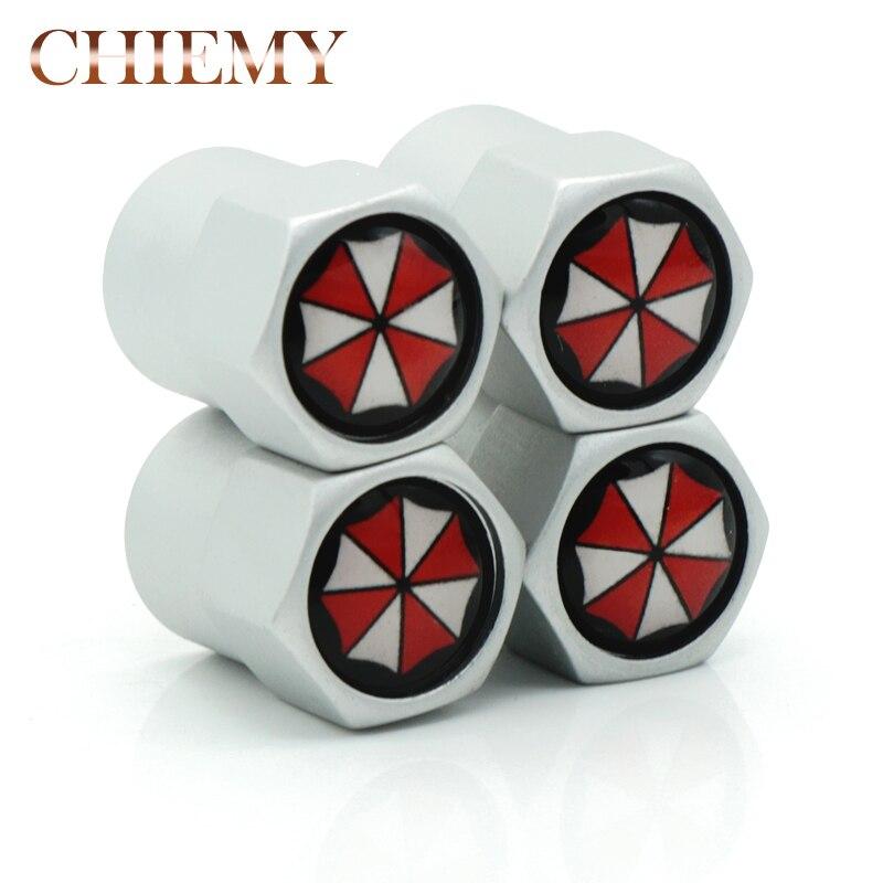 4pcs/lot Car Wheel Tire Valves Tyre Air Caps Case For alloy Umbrella corporation Resident Evil Car Accessories Car Styling