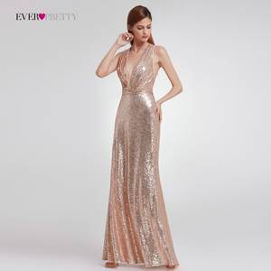Party-Dresses Evening-Dress Sequined Ever Pretty Long Sleeveless EP07109 Modern Straight