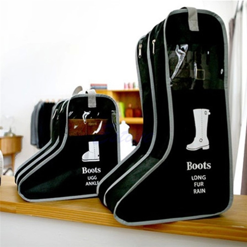 Portable Leather Shoes Storage Bag Hanging Closet Cabin Shoe Cover Boots  Organizer Sack Storaging Bag With ...